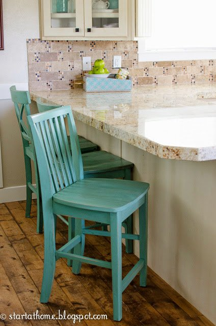 My mismatched barstools are a favorite around here. Have you wondered where I got them, how I painted them and how well they held up? Here are the details.