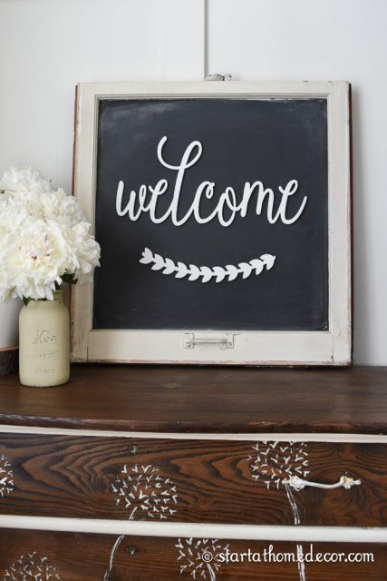 DIY Old Window Turned Chalkboard