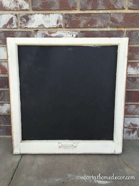 Diy Old Window Turned Chalkboard Start At Home Decor