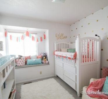 Coral and Teal Nursery