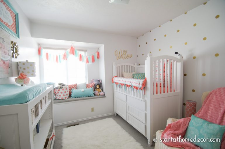 Coral and Teal Nursery