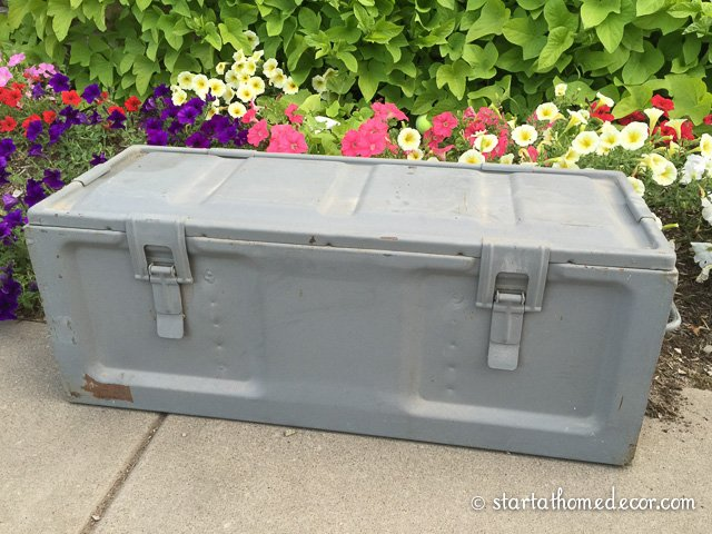 Milk Painted Ammo Box Before