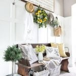 Bright, Airy Entryway with Foyer Bench