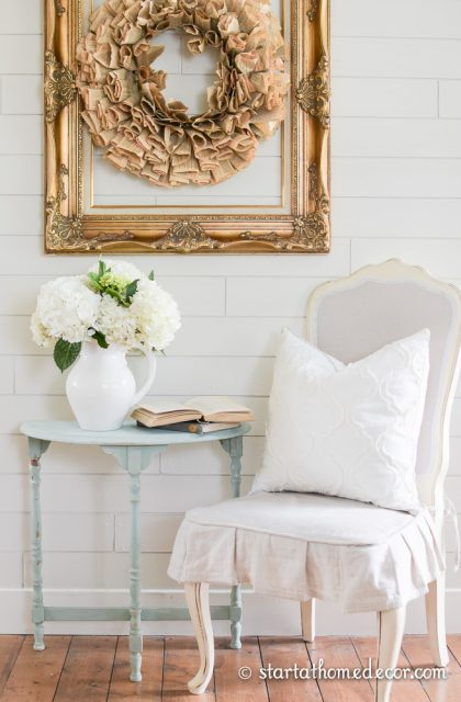Antique Table Painted with Milk Paint