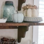 Fall decorating with turquoise and neutrals
