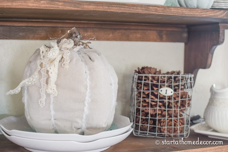 DIY canvas pumpkin and fall decor
