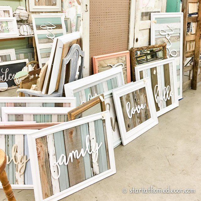 Vintage whites slc fall market start at home decor - Scrap wood decorated house ...