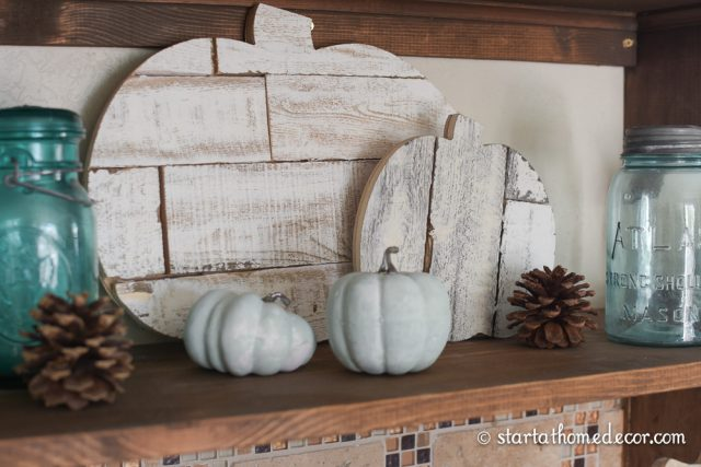 Shiplap Pumpkins by Start at Home Decor