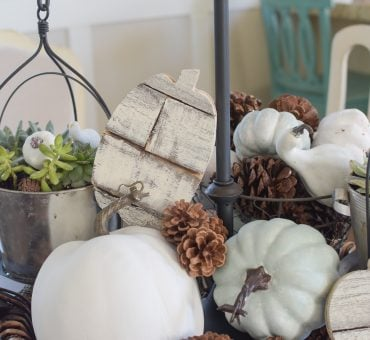 Fall Tablescapes: Shiplap Pumpkins