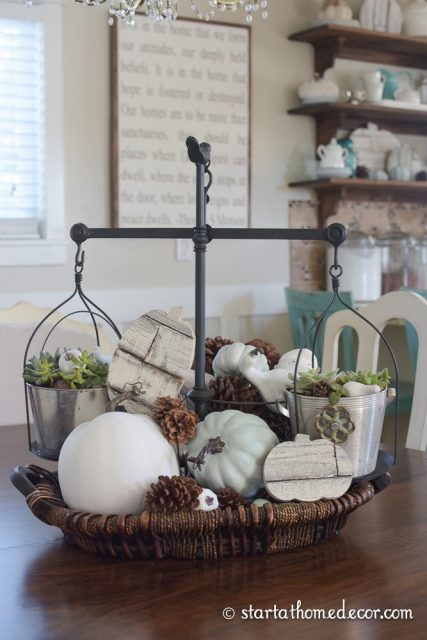 Shiplap pumpkins and Decorating Scale
