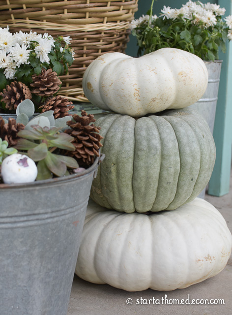 fall pumpkins for the front porch
