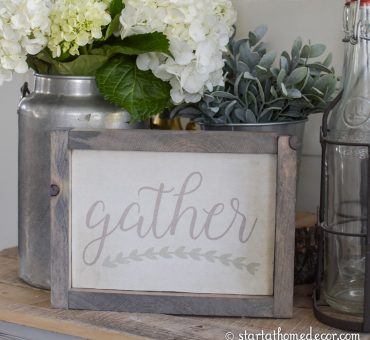 DIY Gather Sign with Free Printable