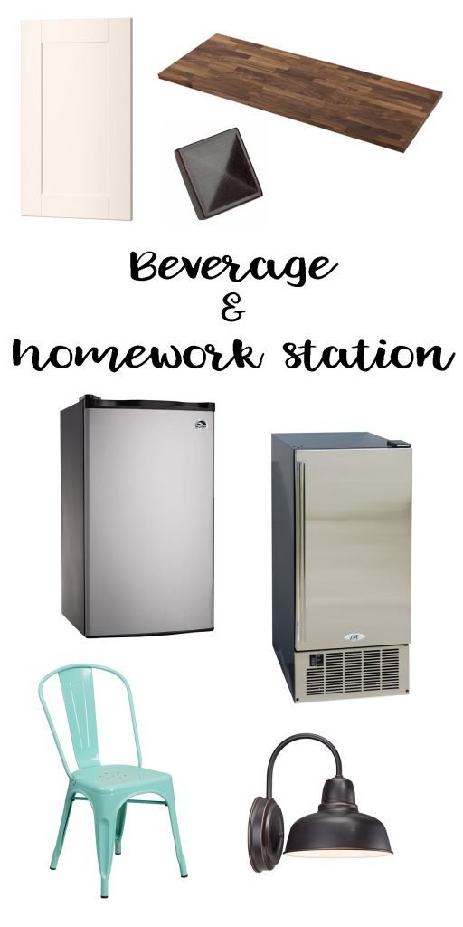 turning our pantry into a beverage and homework station