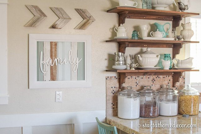 Reclaimed Wood Family Typography Sign