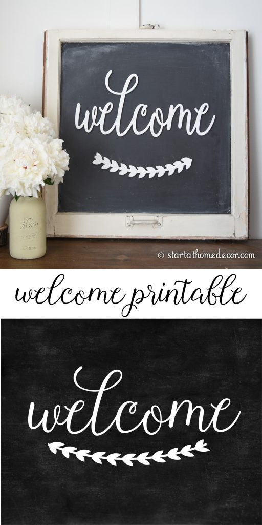 Welcome Printable