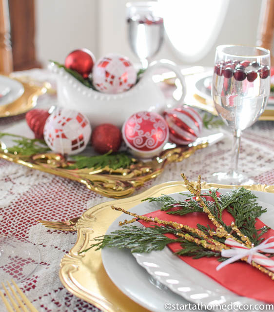 Budget Christmas Tablescape