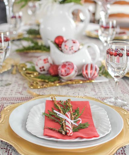 DIY Christmas Tablescape on a Budget