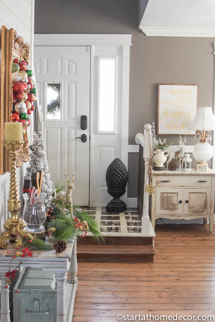 Christmas Home Tour by Start at Home Decor. Entry Way