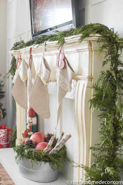Christmas Home Tour by Start at Home Decor. Christmas Stockings