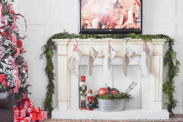Christmas Home Tour by Start at Home Decor. Red and White Christmas