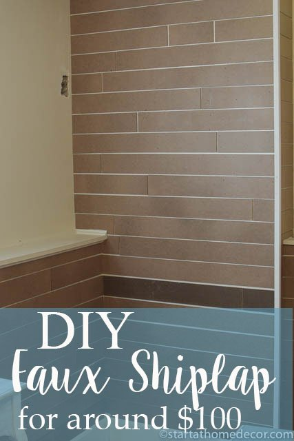 Create a DIY Faux Shiplap Wall for Around $100