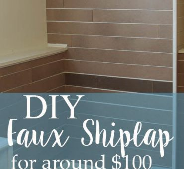 DIY Faux Shiplap Wall for Around $100