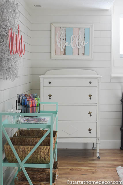 girls-room-reveal shiplap wall