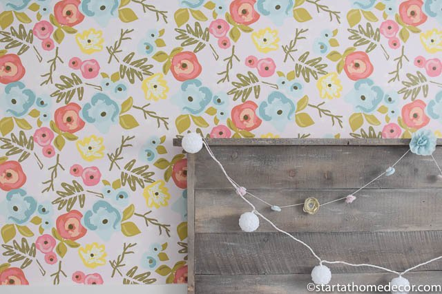 Daughters' rooms reveal with wallpaper
