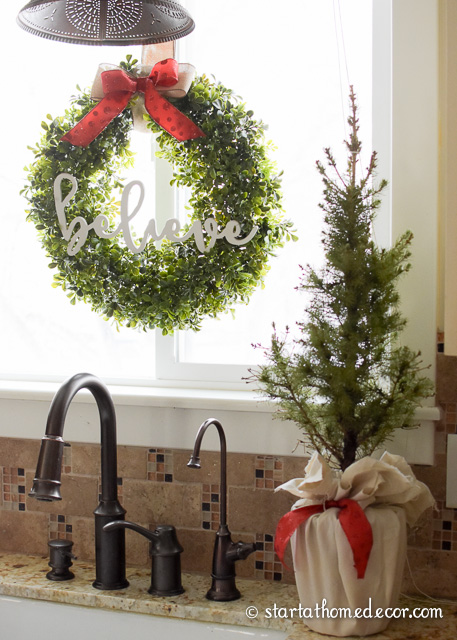Add some greenery to your Christmas decorating