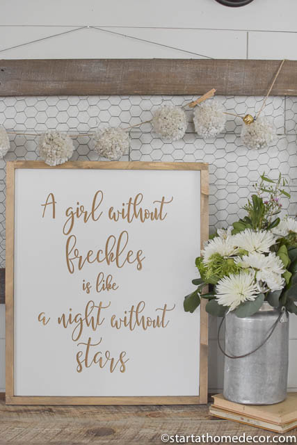 Engraved Signs by Start at Home Decor. A girls without freckles is like a night without stars