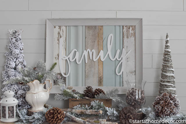 Turquoise Reclaimed Wood Sign By Start at Home Decor