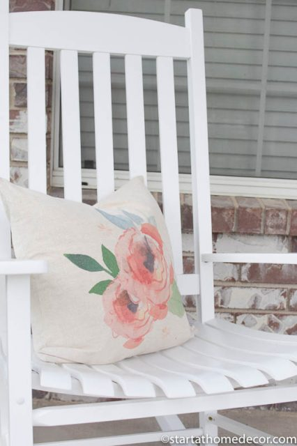 Adding Curb Appeal to Our Spring Front Porch | patio furniture | Farmhouse | Rocking Chair