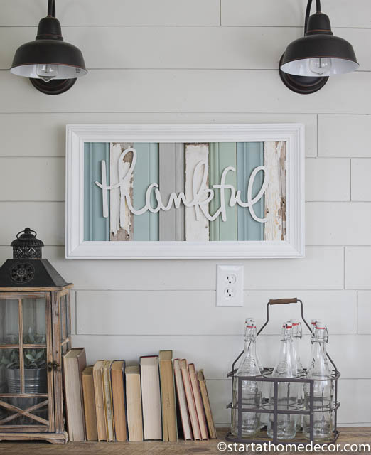 Reclaimed wood turquoise family sign by start at home decor | farmhouse decor |