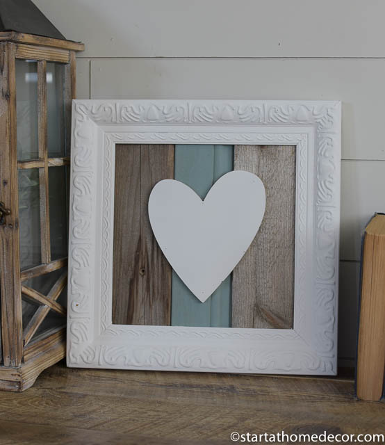 Reclaimed wood turquoise heart sign by start at home decor | farmhouse decor | chippy | Barn Wood