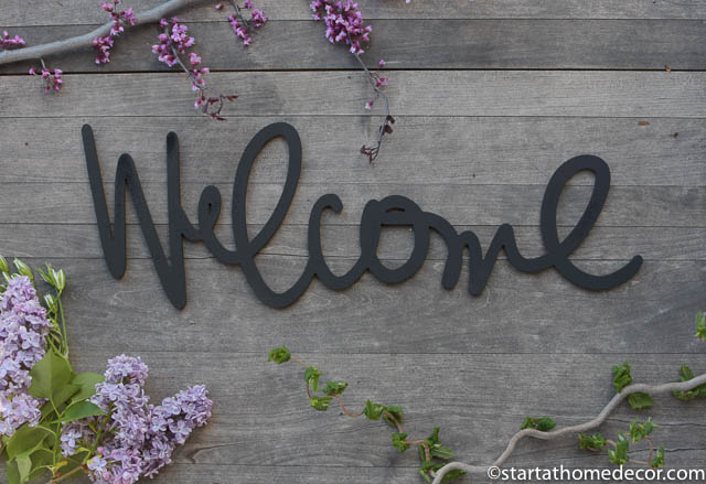 New Handwritten Word Cutouts From Start at Home Decor