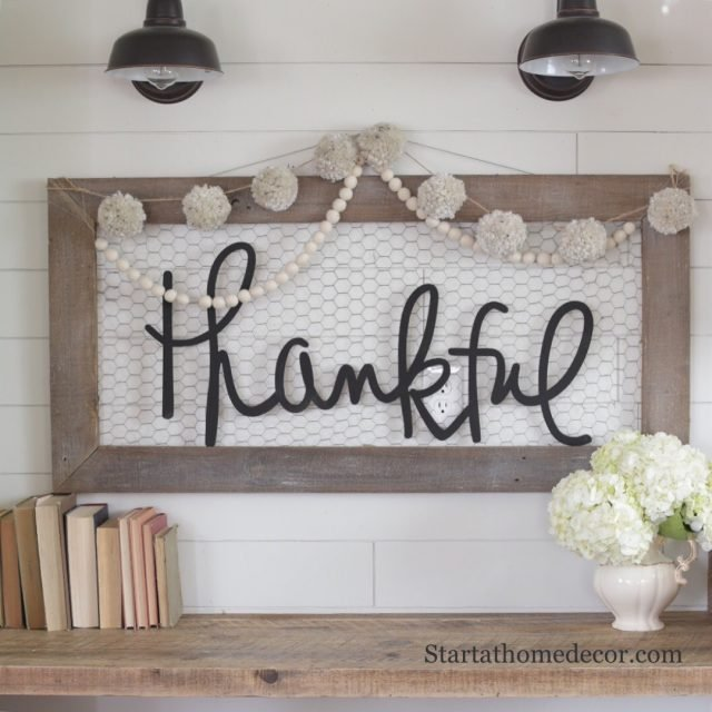 Handwritten word cutouts by Start at Home Decor
