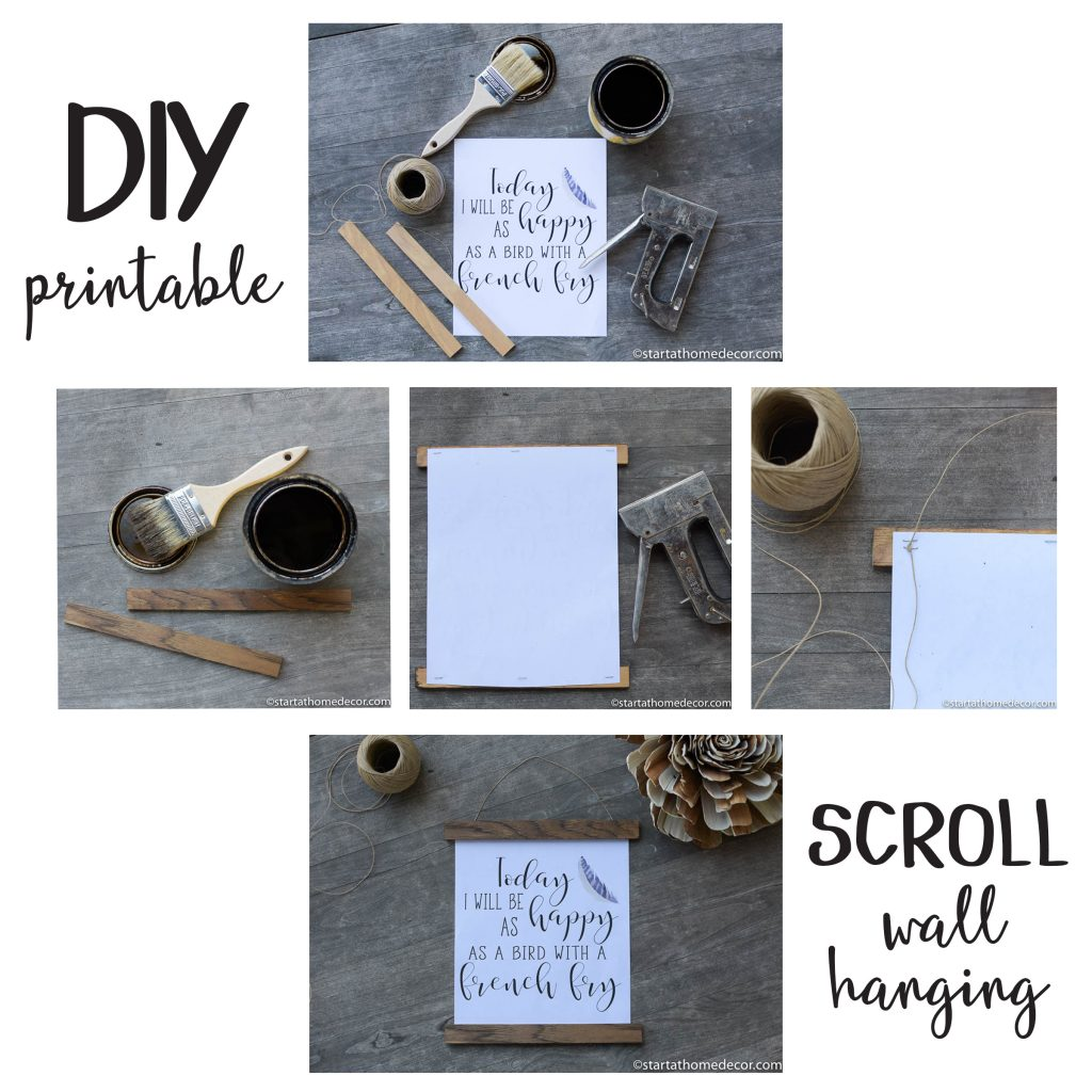 Diy Printable Scroll Wall Hanging Start At Home Decor