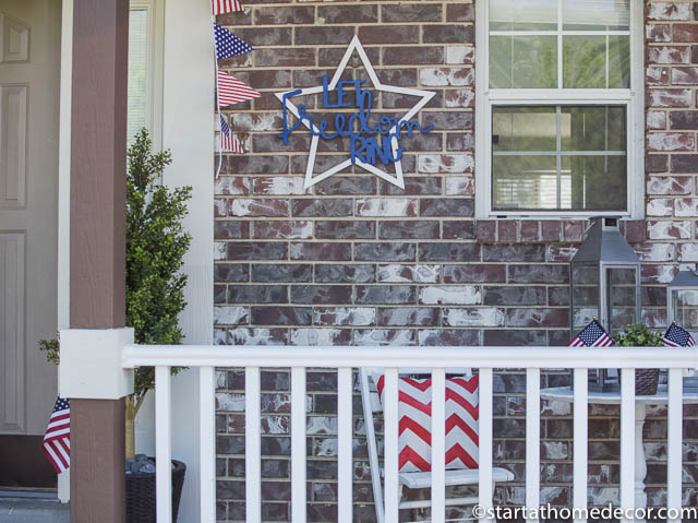 4th of July front porch | 4th of July freedom decor