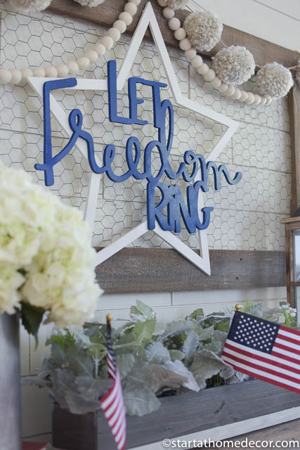 4th of July front porch | 4th of July entry way