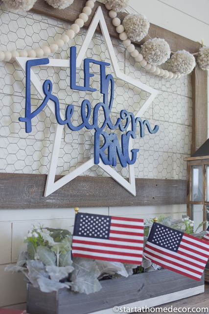4th of July front porch | 4th of July flag