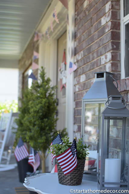 4th of July front porch | 4th of July flag decor