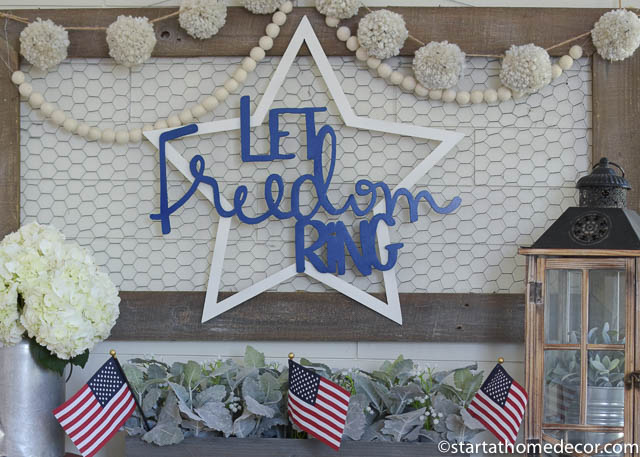 4th of July front porch | 4th of July sign