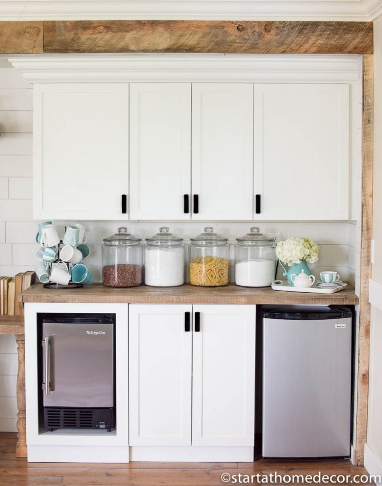 Farmhouse Pantry Overhaul on a Budget | Room Makeover | Farmhouse Design | Beverage Station