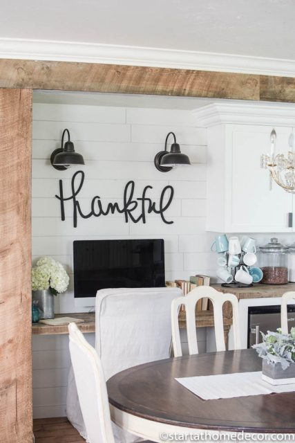 Spice up an accent wall with shiplap