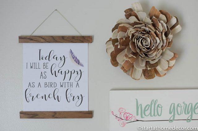 DIY Printable Scroll Wall Hanging
