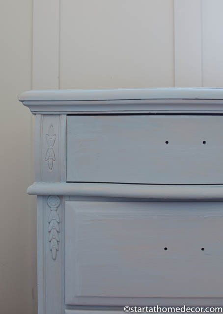How to create distressed furniture without using a sander - Step 2 - Milk Paint