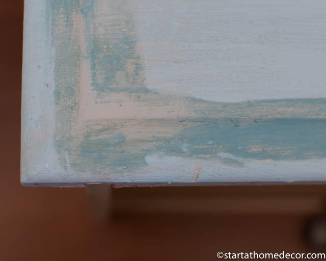 How to distress furniture without sanding - Step 3 - Antiquing Glaze
