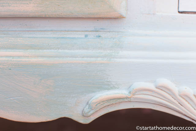 How to distress furniture without sanding - Step 4 - Antique Wax