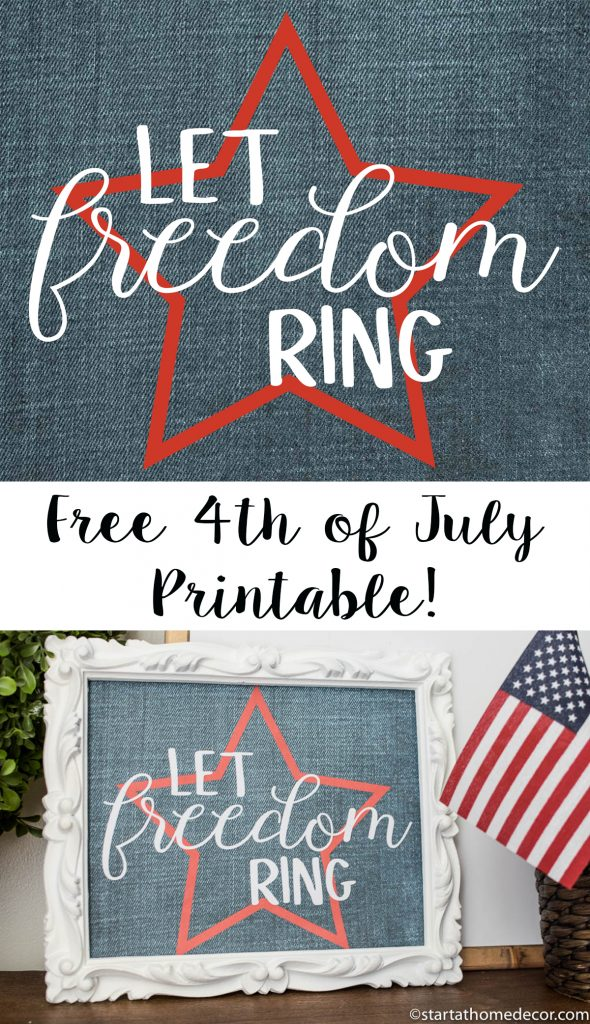 4th of July printable | Start at Home Decor