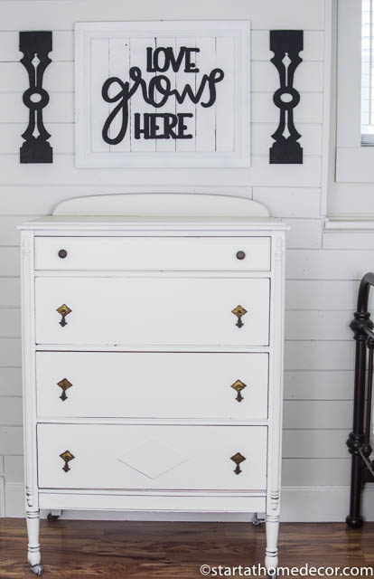 Vintage Dresser Makeover | Start at Home